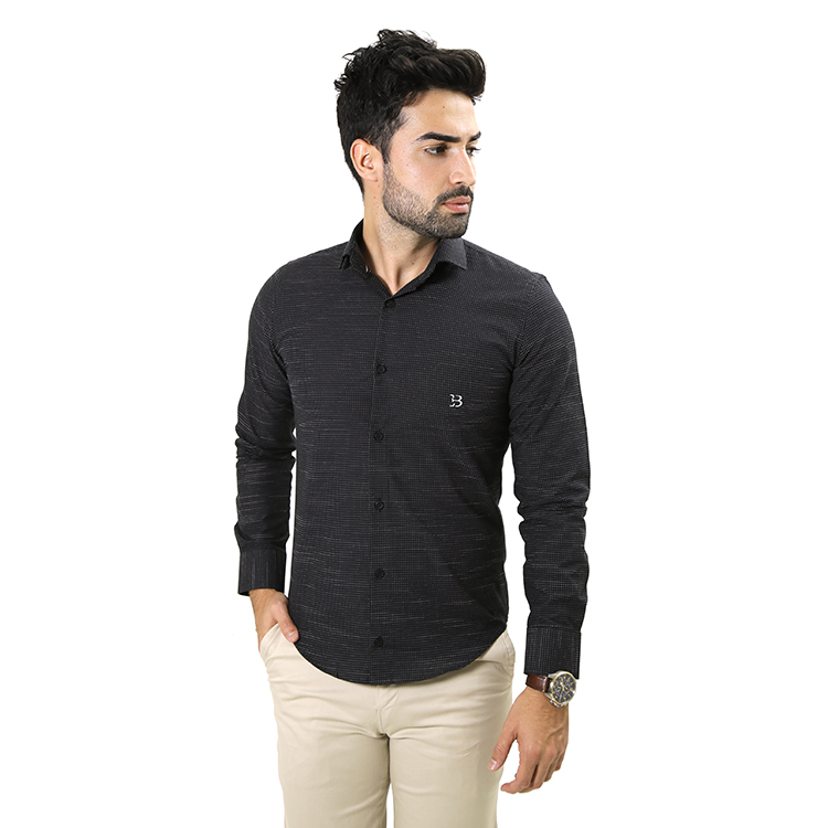 Camisa Manga Longa Preto/Branco